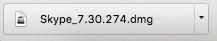 Mac版の無料通話ソフトSkypeのダウンロードファイルSkype_7.30.274.dmgの画像.png